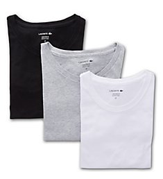Lacoste Essentials Classic Fit Crew Neck T-Shirts - 3 Pack RAME106