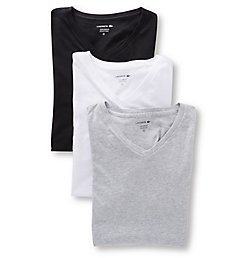 Lacoste Essentials Classic Fit V Neck T-Shirt - 3 Pack RAME107