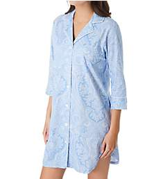 Lauren Ralph Lauren Sleepwear Heritage Knits 3/4 Sleeve Classic Sleepshirt 813702