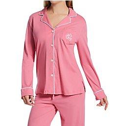 Lauren Ralph Lauren Sleepwear Hammond Knits Long Sleeve Notch Collar PJ Set 819950