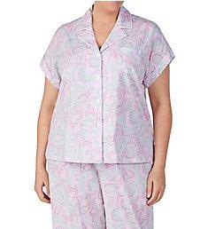 Lauren Ralph Lauren Sleepwear Plus Size Classic Woven Capri Pant PJ Set 91704X