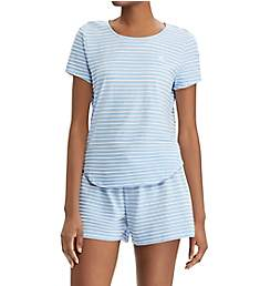 Lauren Ralph Lauren Sleepwear Stripe Knits Short Sleeve Boxer PJ Set LN11545