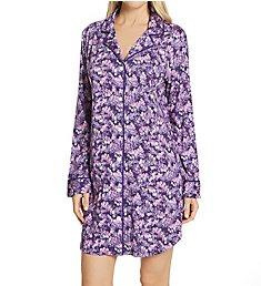 Lauren Ralph Lauren Sleepwear Classic Knits Long Sleeve Notch Collar Sleepshirt LN32115