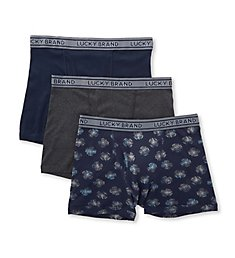 Lucky Fashion Cotton Boxer Briefs - 3 Pack 183VB06