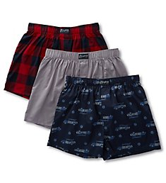 Lucky Fashion Woven Boxers - 3 Pack 183VB09