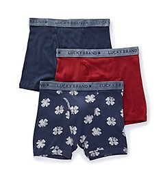 Lucky California Living Cotton Boxer Briefs - 3 Pack 183WB06