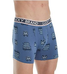 Lucky Fashion Cotton Stretch Boxer Brief 183WH04
