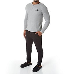 Lucky Thermal Henley & Jersey Jogger Set 183YG07