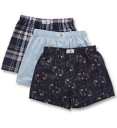 Lucky Cotton Woven Boxers - 3 Pack 193WB09
