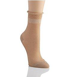 MeMoi Metallic Sheer Shortie Socks MWF-0073