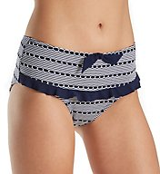 Miss Mandalay Cabana Retro High Waist Bikini Brief Swim Bottom CAB04WRB