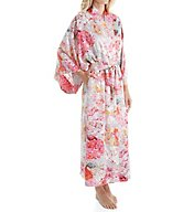 Natori Autumn Printed Silky Charmeuse Long Robe B74002