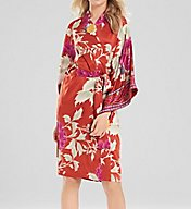 Natori Auburn Floral Wrap Robe D74108