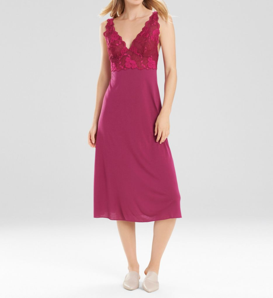 Natori Zen Floral Modal Knit with Lace Nightgown U73050