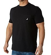 Nautica Solid Anchor Crew Neck Pocket T-Shirt V41050