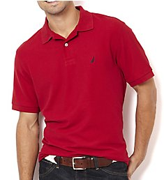 Nautica Big Man Anchor Solid Deck Polo Shirt Z21050