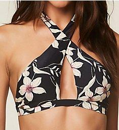 O'Neill Albany Floral Hi-Neck Bikini Swim Top 8474020
