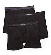 Perry Ellis Portfolio Cotton 1 x 1 Rib Boxer Briefs - 3 Pack 536110