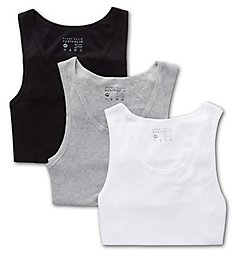 Perry Ellis Relaxed Fit Cotton Tanks - 3 Pack 568107