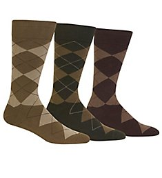 Polo Ralph Lauren Big and Tall Classic Argyle Cotton Socks - 3 Pack 8091XLE