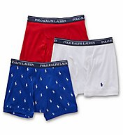 Polo Ralph Lauren Classic Fit 100% Cotton Boxer Briefs - 3 Pack LCBBP3