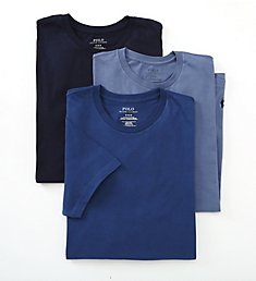 Polo Ralph Lauren Classic Fit 100% Cotton Crew T-Shirts - 3 Pack LCCN