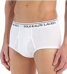 Polo Ralph Lauren Classic Fit 100% Cotton Mid-Rise Briefs - 4 Pack LCMB
