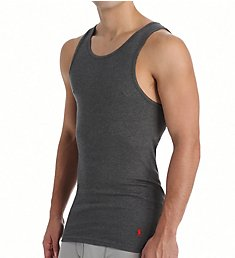 Polo Ralph Lauren Classic Fit Ribbed 100% Cotton Tanks - 3 Pack LCTK