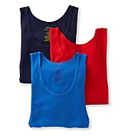 Polo Ralph Lauren Classic Fit 100% Cotton Tanks - 3 Pack LCTKH3