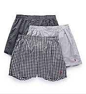 Polo Ralph Lauren Classic Fit 100% Cotton Woven Boxers - 3 Pack LCWBH3