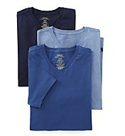 Polo Ralph Lauren Slim Fit Cotton V-Neck T-Shirts - 3 Pack LSVN
