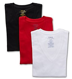 Polo Ralph Lauren Classic Fit 100% Cotton V-Neck Shirts - 3 Pack RCVNH3