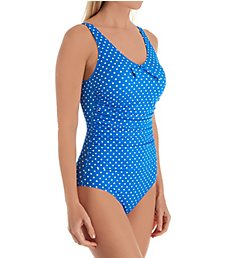 Pour Moi Hot Spots Scoop Neck Control One Piece Swimsuit 3906