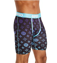 PSD Underwear Teal Pattern Boxer Brief 21911044