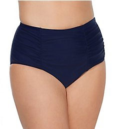 Raisins Curve Caribe Solids Costa High Waist Brief Swim Bottom D840061