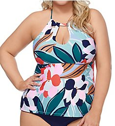 Raisins Curve Lucky Day Rosalie Underwire Plus Size Tankini Top D840125