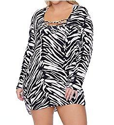 Raisins Curve Plus Size Alba Long Sleeve Shirt Swim Cover Up E840899