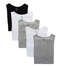 Reebok Sport Cotton Jersey Tanks - 5 Pack 00CPT06