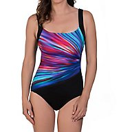 Reebok Bright Horizons Square Neck One Piece Swimsuit 780500