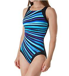Reebok Depth Defying High Neck One Piece Swimsuit 781008