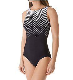 Reebok Electric Express High Neck One Piece Swimsuit 781027
