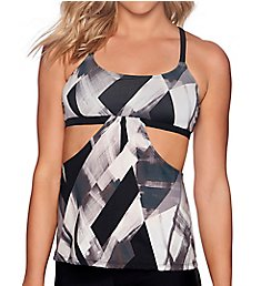 Reebok Bold Dynamic Strappy Tankini Swim Top 781630