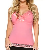 Rhonda Shear Pin Up Smoothing Tank with Built in Bra 6674