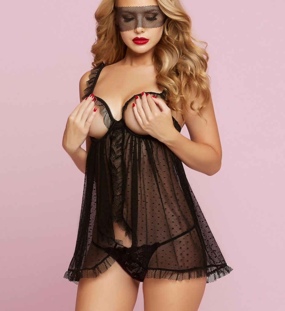 Seven 'til Midnight Simply Naughty Babydoll Lace Set 10727P