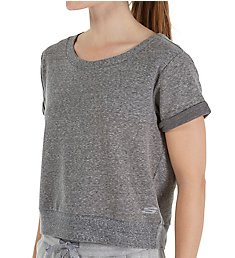 Skechers Criss Cross French Terry Short Sleeve Top SW0966