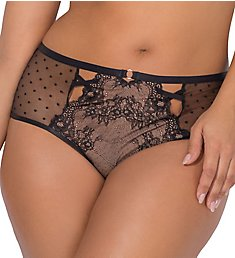 Smart and Sexy Curvy Delicate Lace & Dot High-Waist Cheeky Panty SA1248