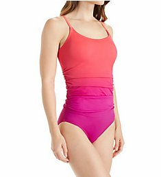 Speedo Ombre Shirred One Piece Swimsuit 7734035