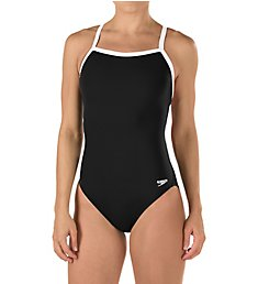 Speedo Solid Flyback Training One Piece Swimsuit 819016