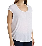Splendid Slub Jersey Cap Sleeve Scoop Neck Tee ST10307