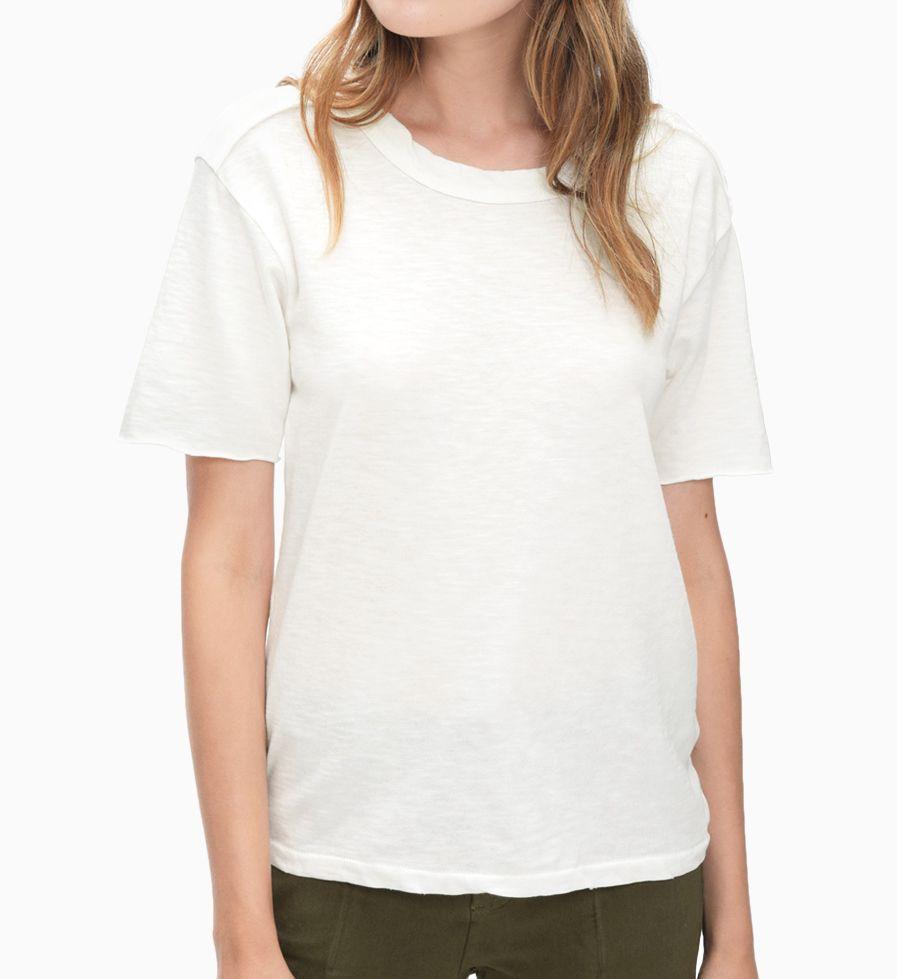 Splendid Cotton Slub Short Sleeve Deconstructed Tee ST11839